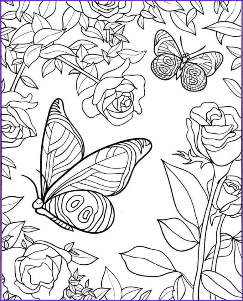The Best Adult Coloring Book Luxury Collection butterfly Coloring Pages for Adults Best Coloring Pages