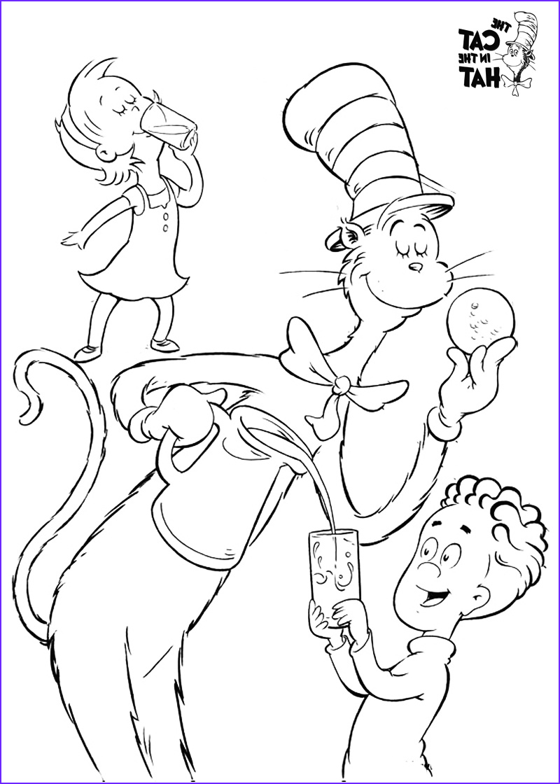The Cat In The Hat Coloring Page Best Of Photos Cat In The Hat Coloring Pages