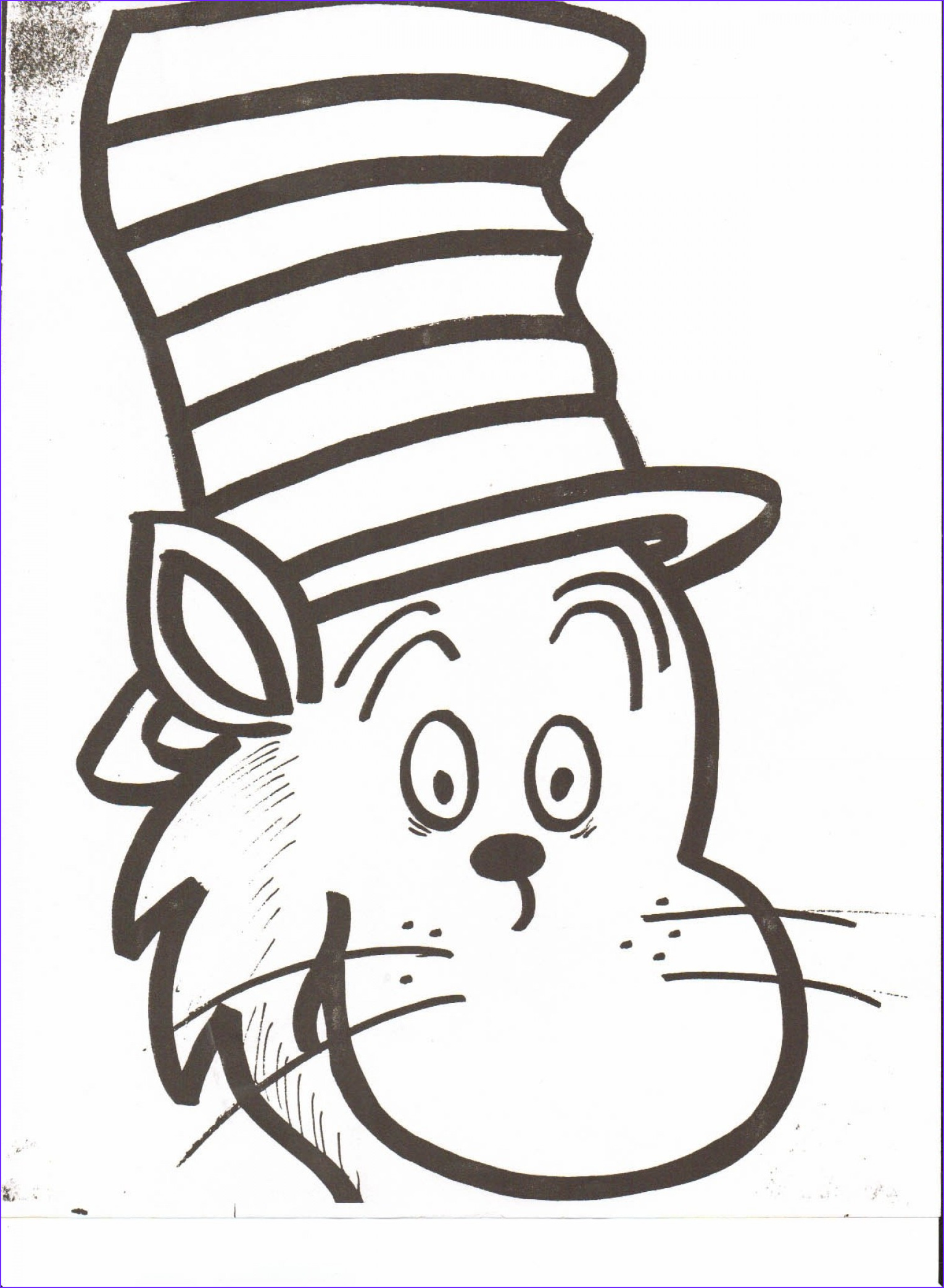 The Cat In the Hat Coloring Page Elegant Photos Dr Seuss Hat Vector at Getdrawings