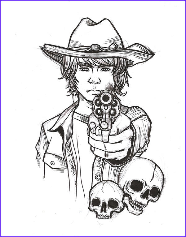 The Walking Dead Coloring Page Cool Gallery Walking Dead Character Coloring Pages Coloring Coloring Pages