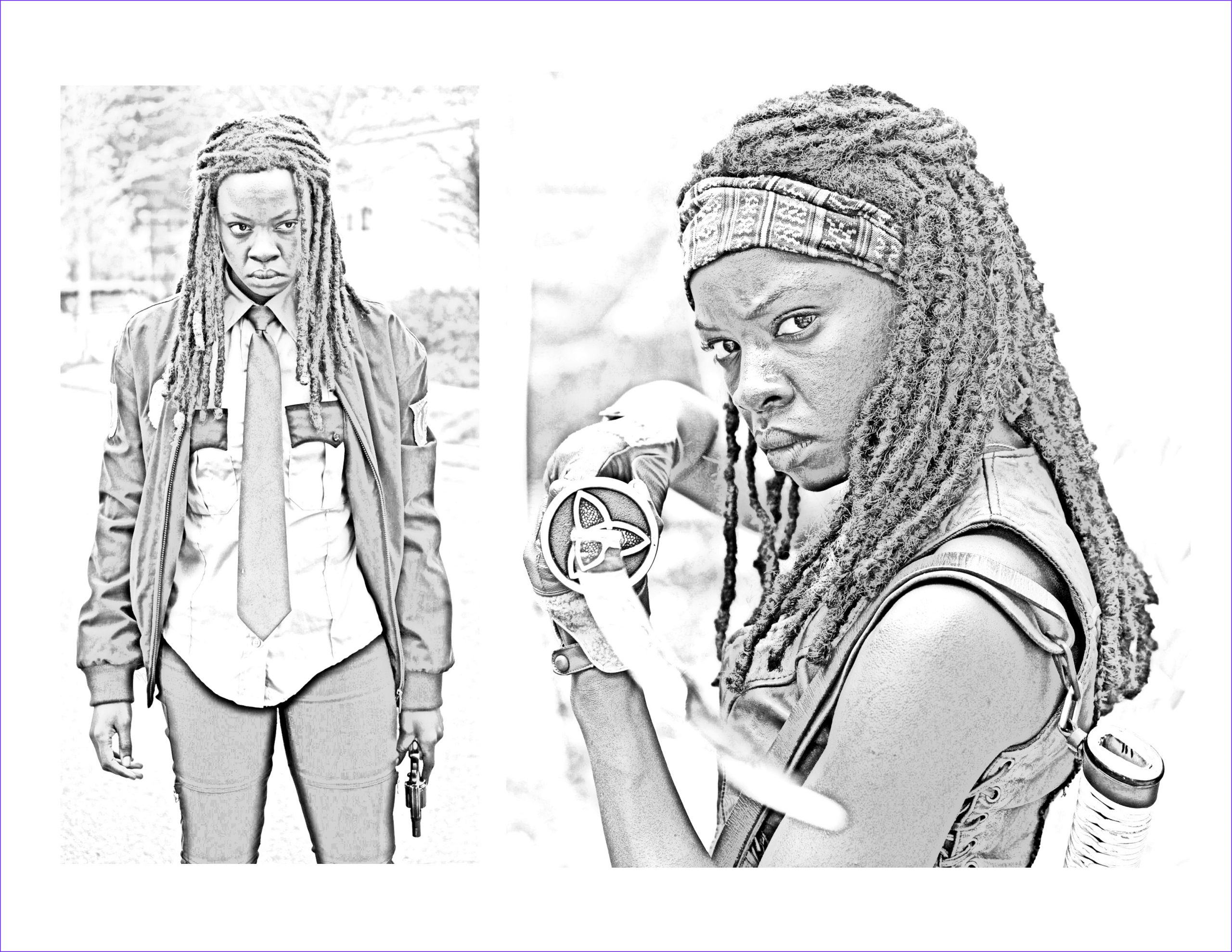 The Walking Dead Coloring Page Cool Photography the Walking Dead Coloring Pages Michonne the Walking