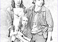 The Walking Dead Coloring Page Elegant Image the Walking Dead Coloring Pages Tara Lily and Meghan
