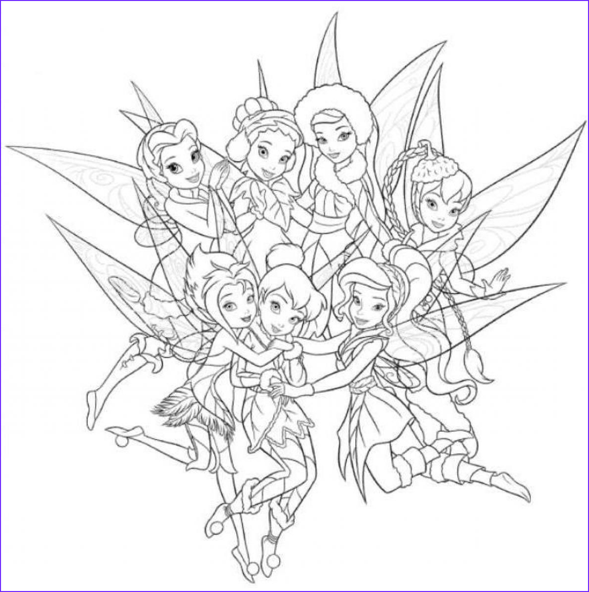 Tinklebell Coloring Page Inspirational Images Tinkerbell and Periwinkle Coloring Pages Coloring Home