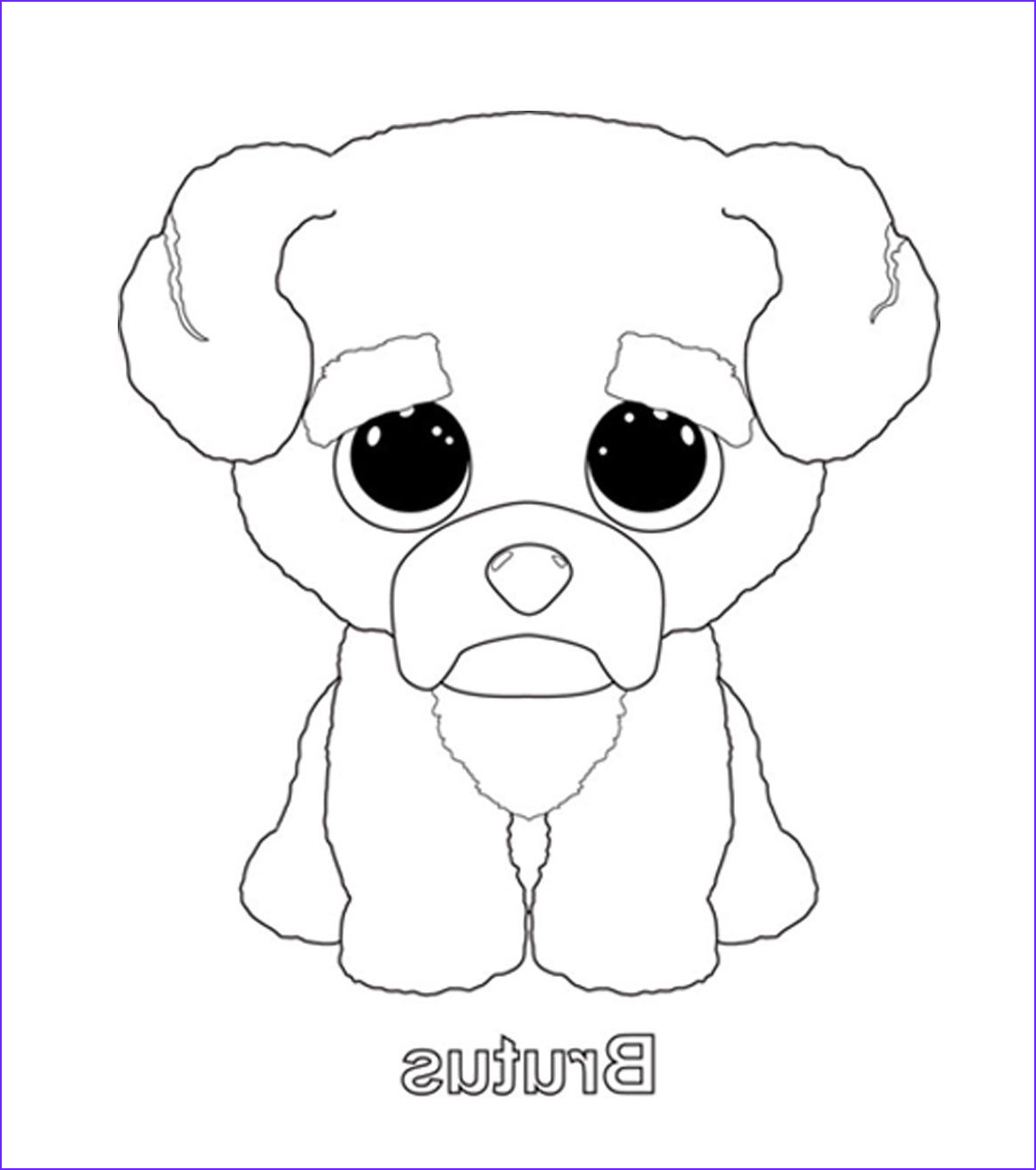Ty Beanie Boos Coloring Page Awesome Photos Brutus Coloring Page