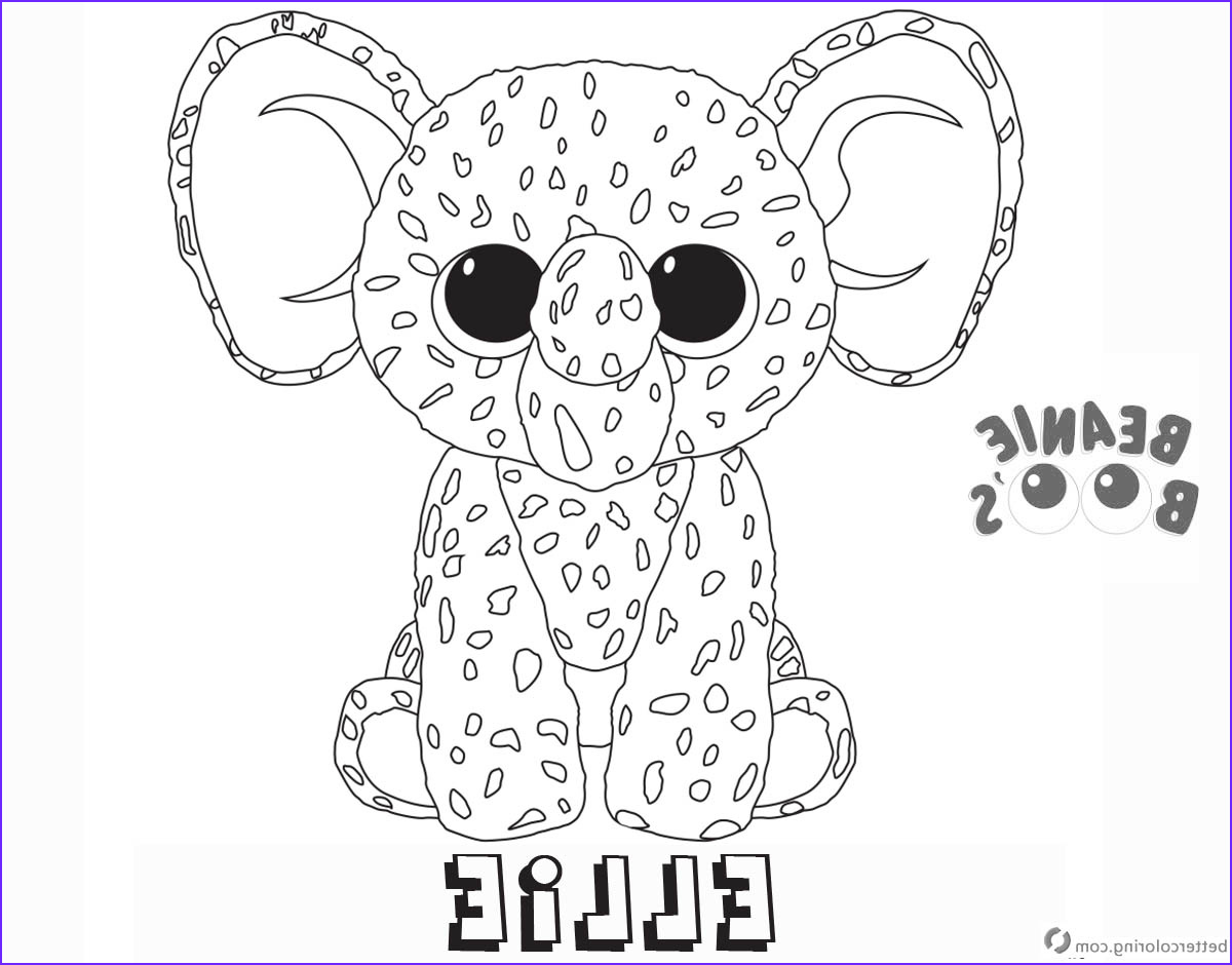Ty Beanie Boos Coloring Page New Photos Beanie Boo Coloring Pages Ellie Free Printable Coloring