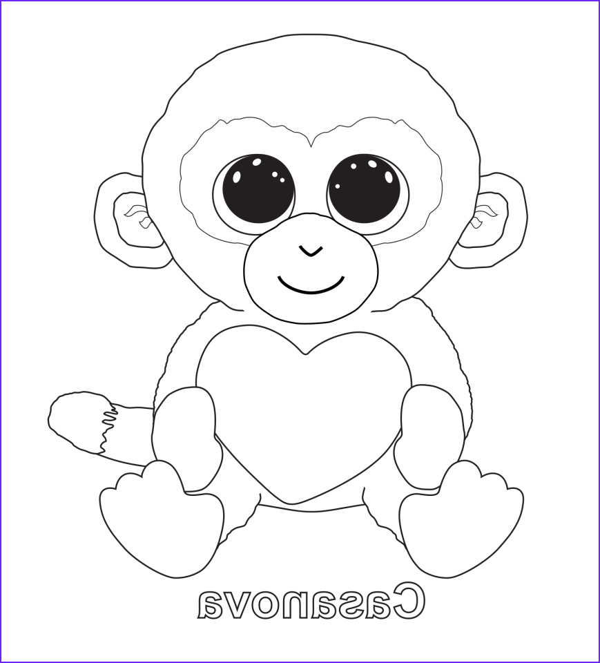 Ty Beanie Boos Coloring Page New Photos Beanie Boos Coloring Pages Coloring Home
