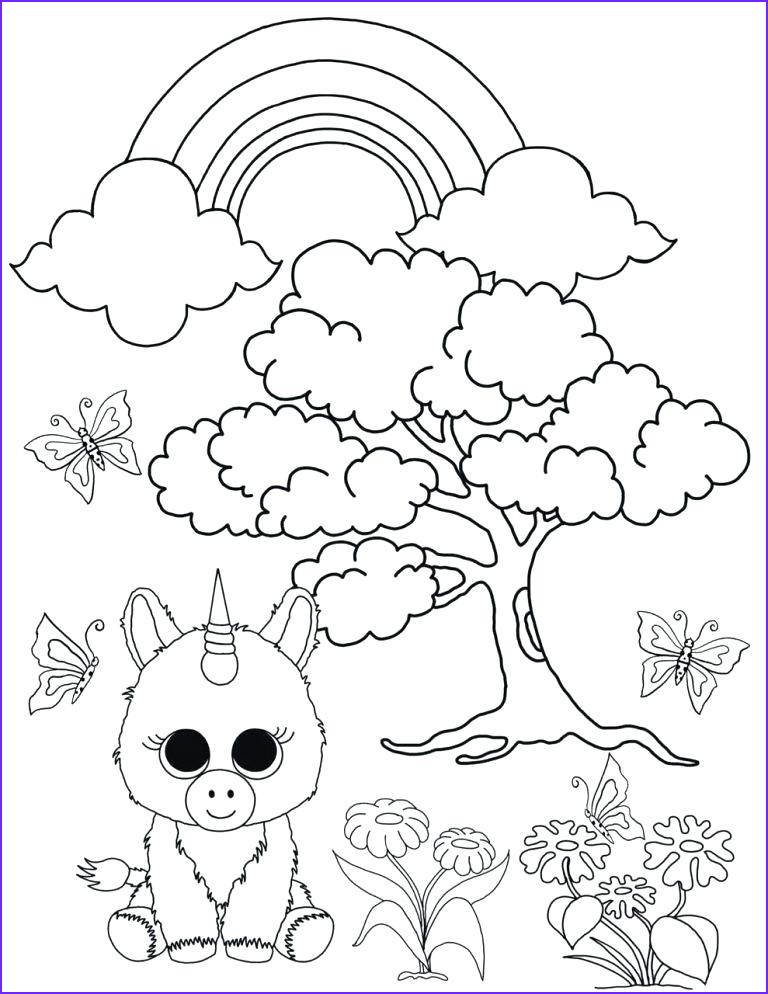Ty Beanie Boos Coloring Page Unique Collection Ty Beanie Babies Coloring Pages at Getcolorings