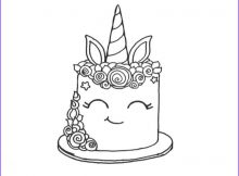 Unicorn Cake Coloring Page Best Of Stock Smiling Unicorn Cake Coloring Pages Free Printable