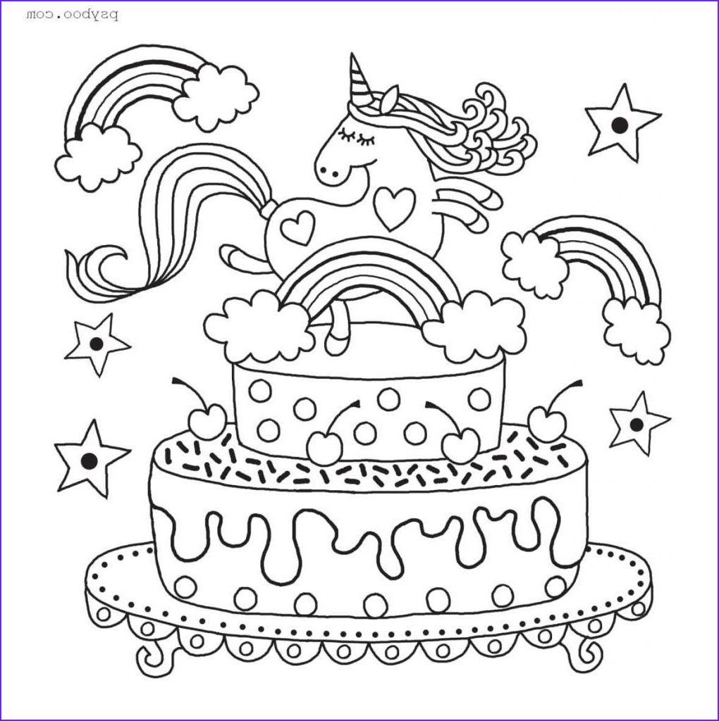 Unicorn Cake Coloring Page Unique Collection Free Cake Rainbow Unicorn Colouring Sheet to Print