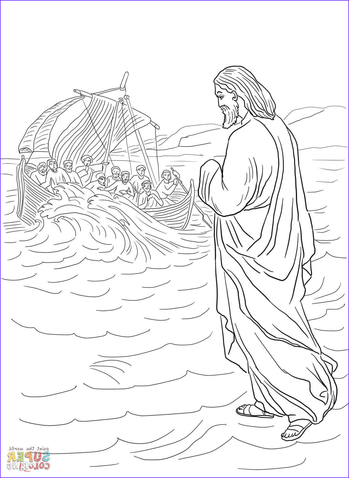 Water Coloring Book for Adults Elegant Photography Jesus Walking On the Water