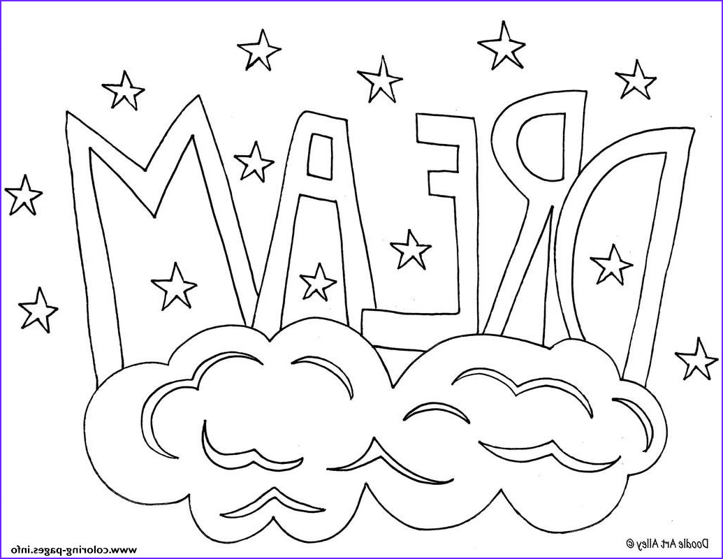 word dream printable coloring pages book