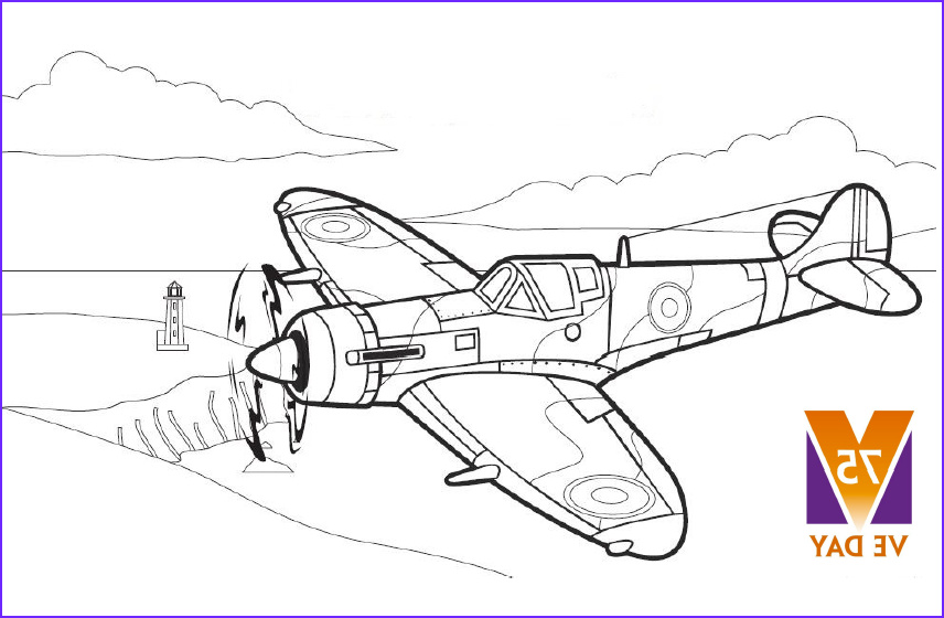 Ww2 Coloring Picture Cool Photos Colouring Pages World War Ii Spitfire Aircraft