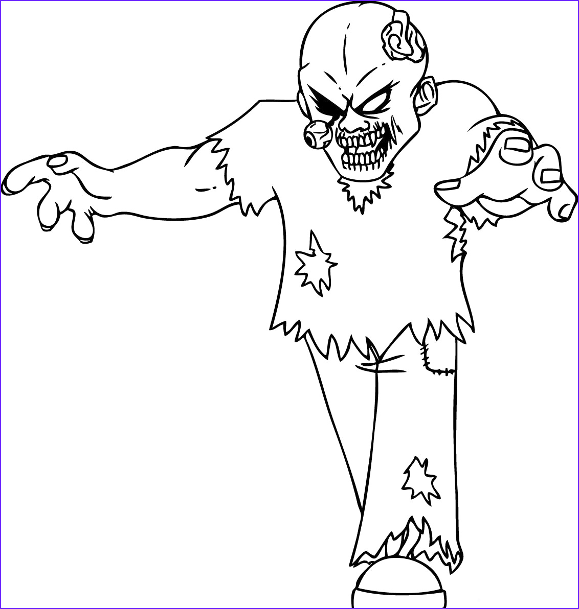 Zombie Coloring Sheet Beautiful Stock Free Printable Zombies Coloring Pages for Kids