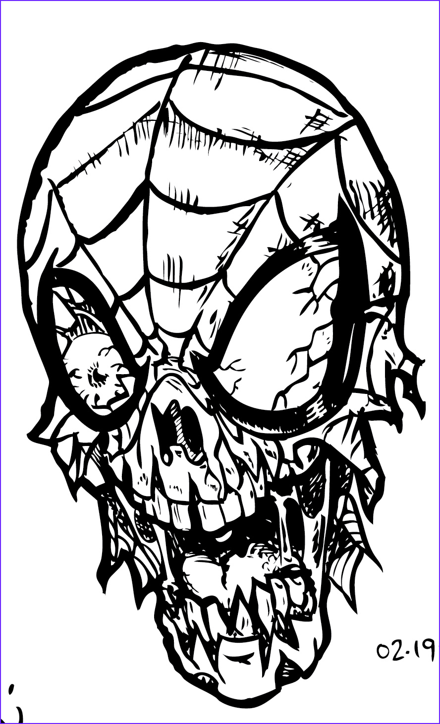 Zombie Coloring Sheet New Image Zombie Printable Coloring Pages Coloring Home