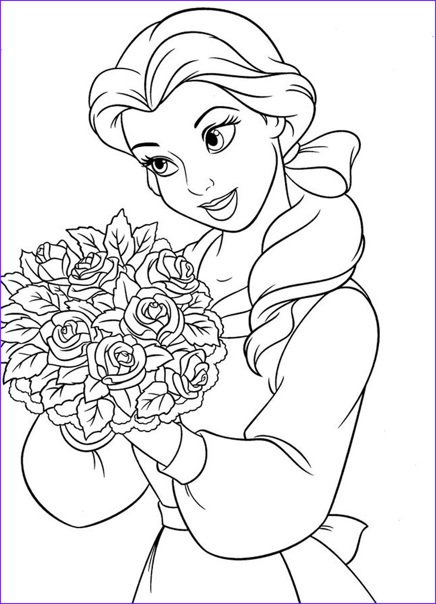 Belle Printable Coloring Page Beautiful Image Belle Coloring Pages 2017 Dr Odd