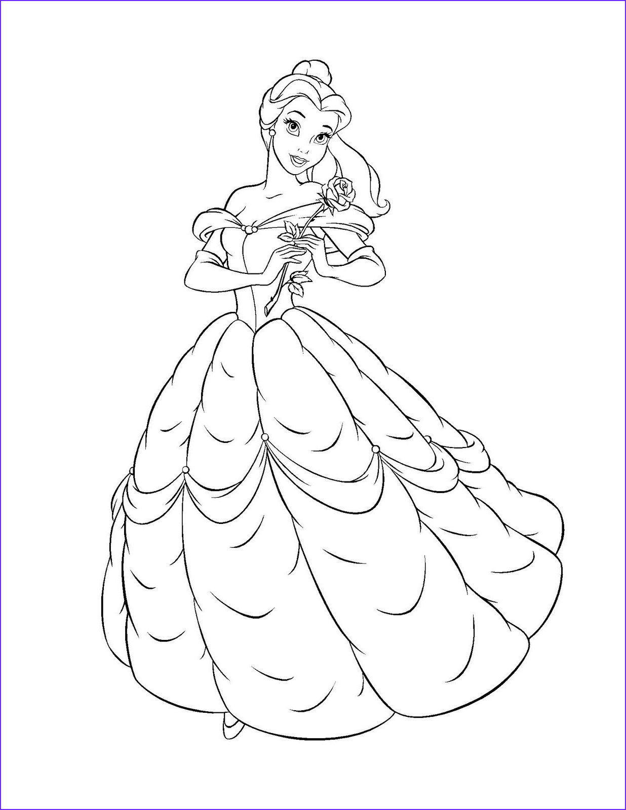Belle Printable Coloring Page Cool Gallery Free Printable Belle Coloring Pages for Kids