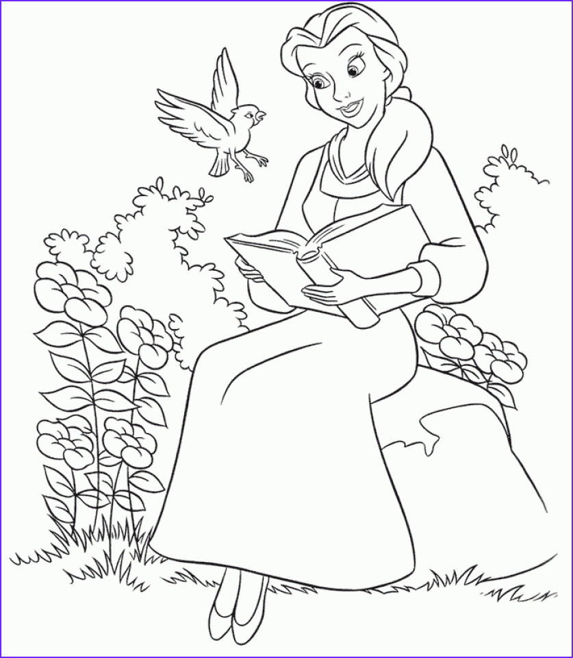 Belle Printable Coloring Page Cool Images Get This Disney Princess Belle Coloring Pages Line