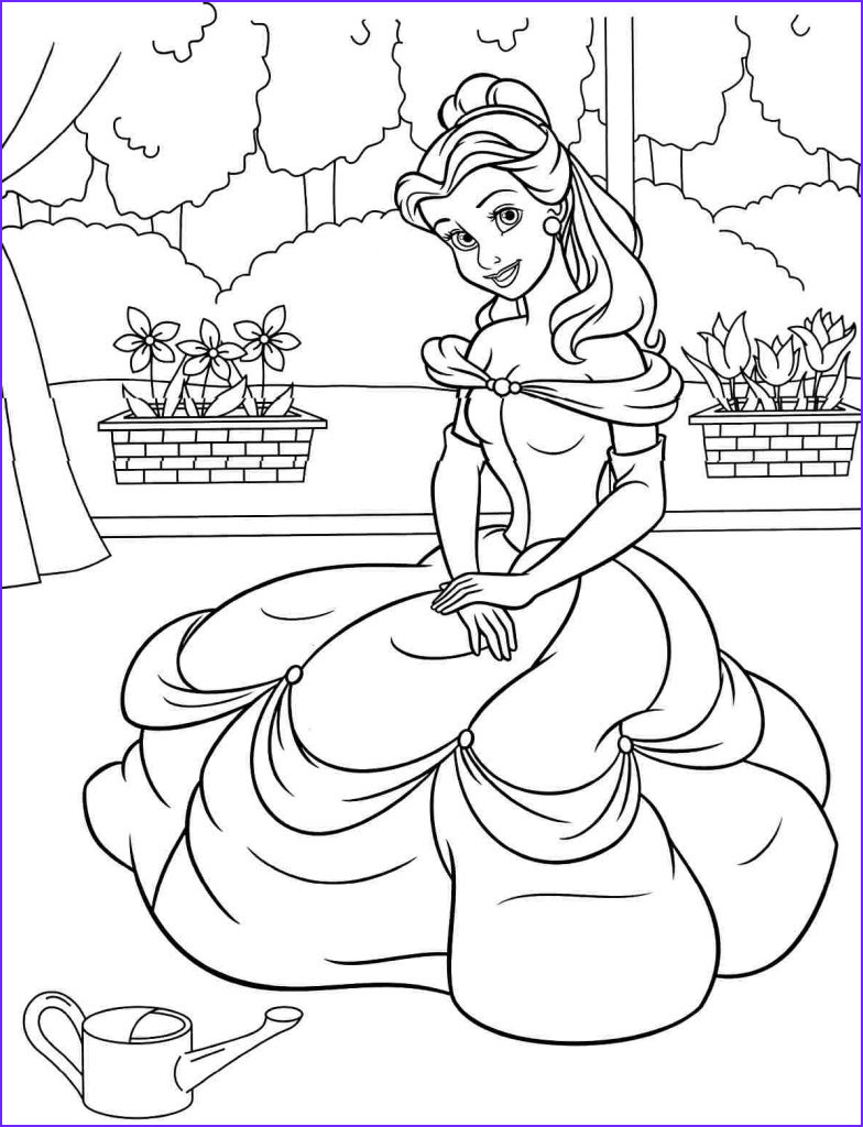 Belle Printable Coloring Page New Photos Free Printable Belle Coloring Pages for Kids