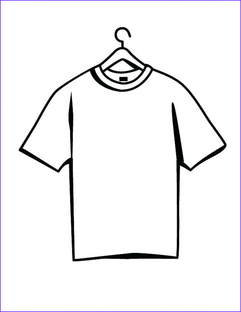 Blank T Shirt Coloring Page Best Of Image Blank T Shirt Drawing at Paintingvalley