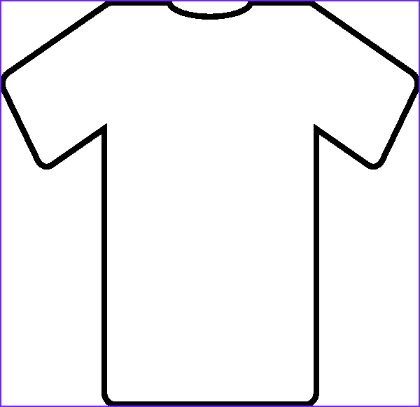 Blank T Shirt Coloring Page Cool Stock Blank T Shirt Template for Colouring Clipart Best