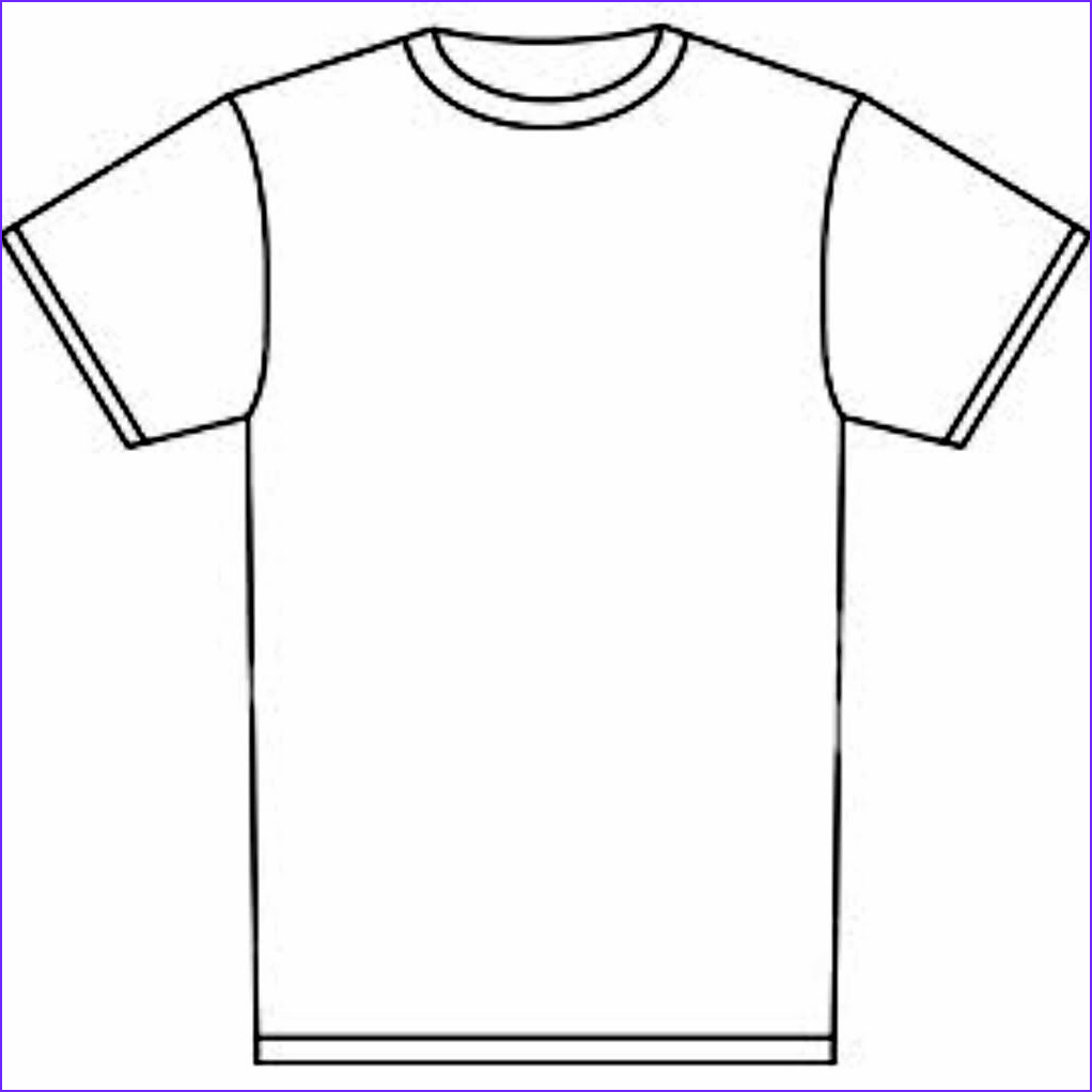 Blank T Shirt Coloring Page Inspirational Photos Blank T Shirt Template for Colouring Clipart Best