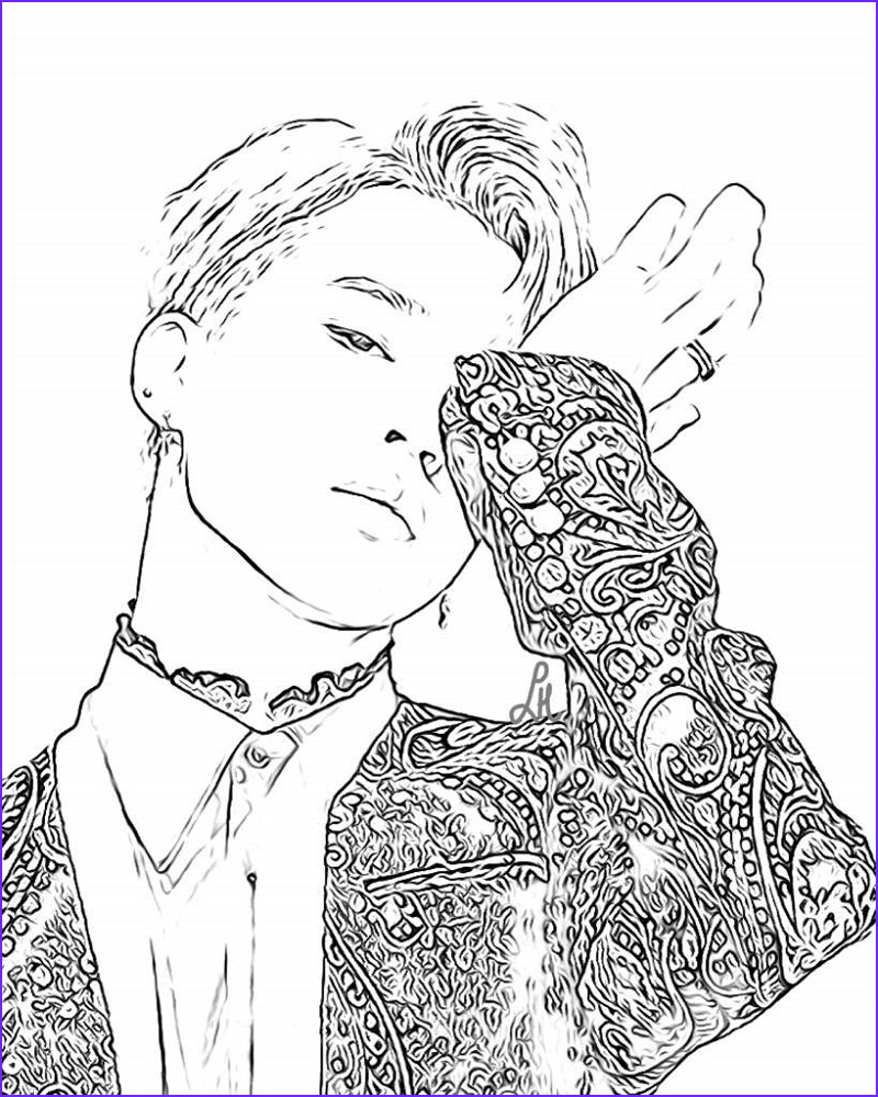 Bts Coloring Page Best Of Photos Bts Coloring Pages Free Cartoon