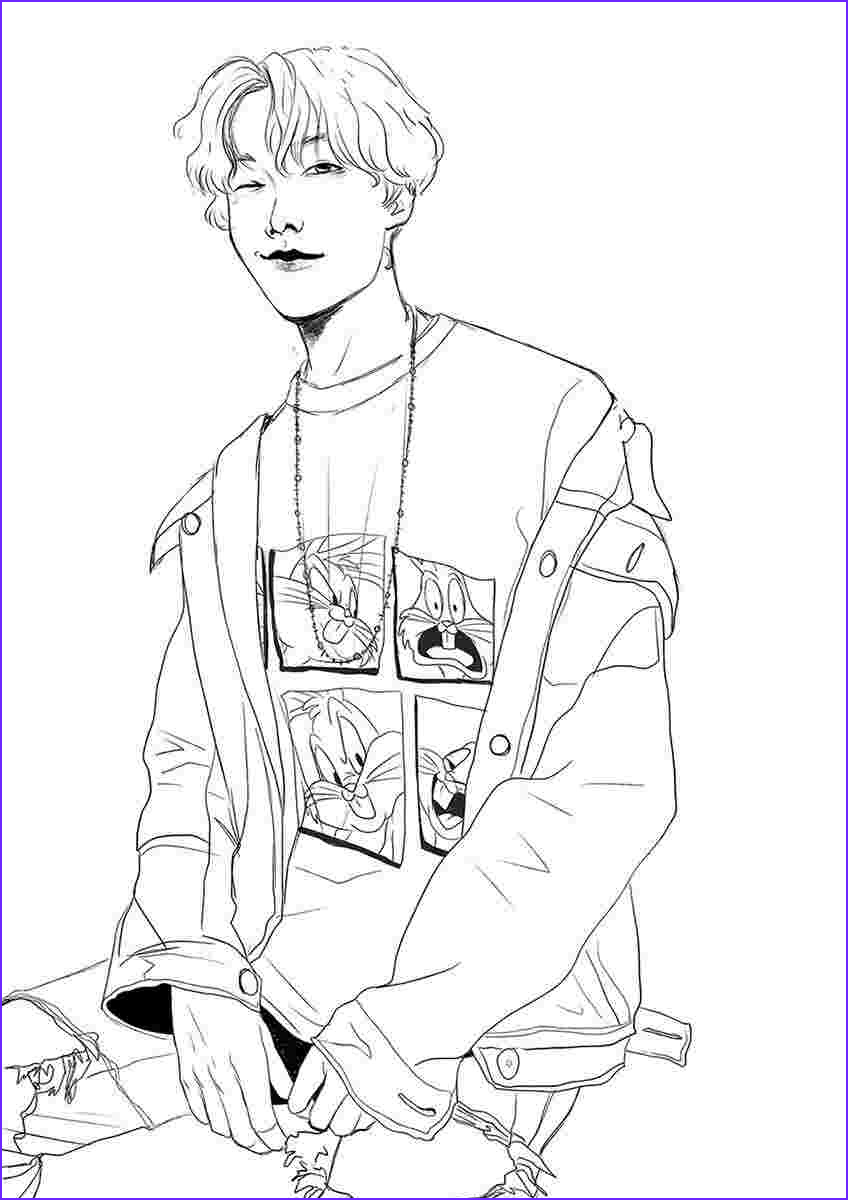 Bts Coloring Page Inspirational Collection Bts Coloring Pages Coloring Home