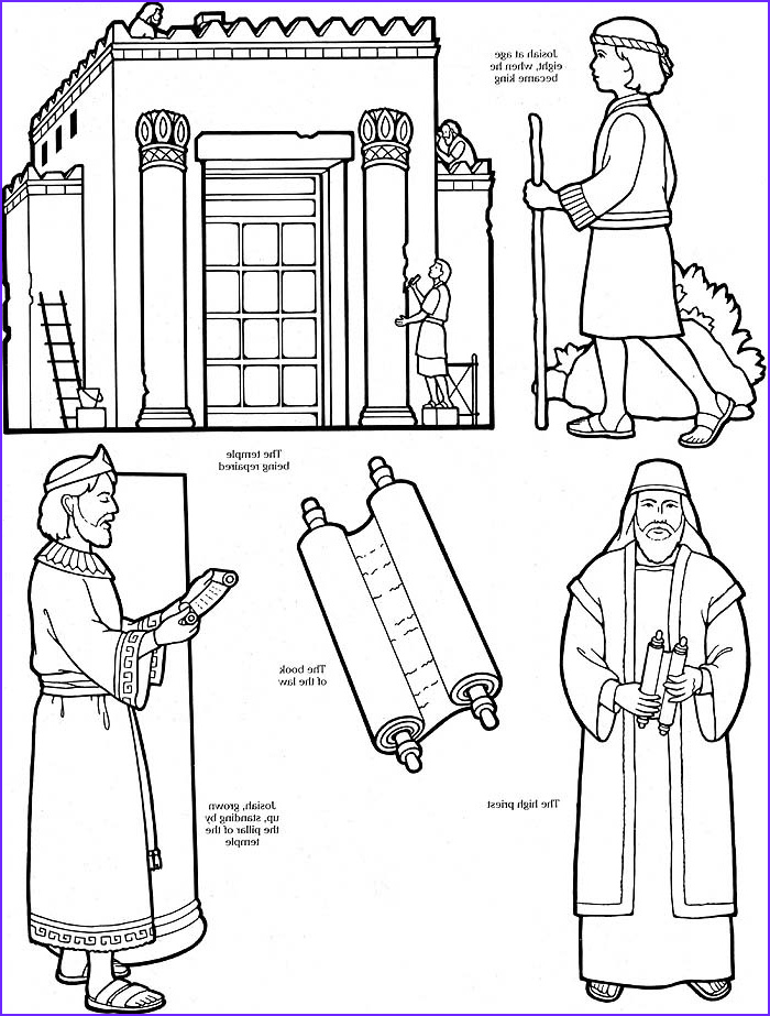 Building the Temple Coloring Page Awesome Gallery Coloring Page with Josiah Coloring Home