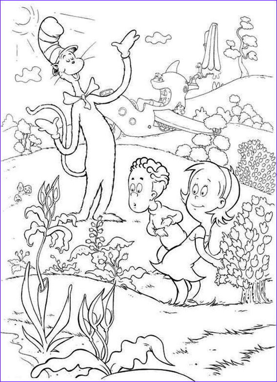 Cat In the Hat Coloring Page Free Beautiful Image Free Printable Cat In the Hat Coloring Pages for Kids