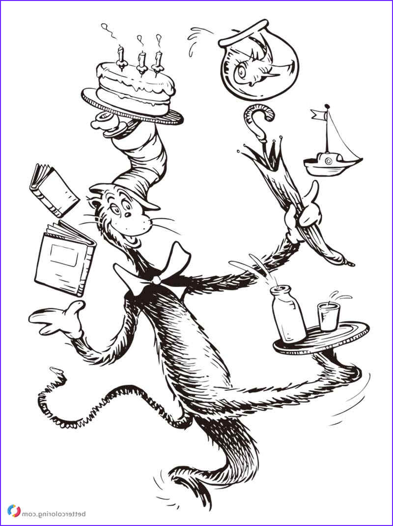 Cat In the Hat Coloring Page Free New Images Dr Seuss Coloring Pages Cat In the Hat Free Printable