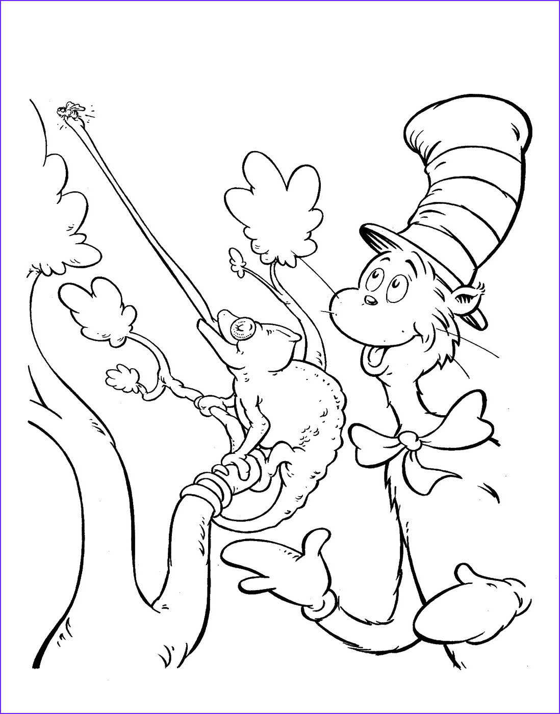 Cat In the Hat Coloring Page Free New Photos Cat In the Hat Coloring Pages