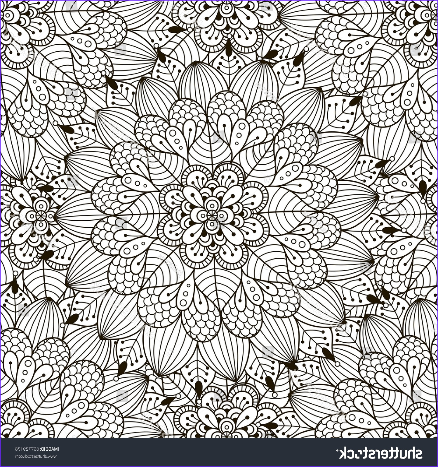 Coloring Book Fabric New Photos Floral ornament Seamless Pattern Coloring Page Stock