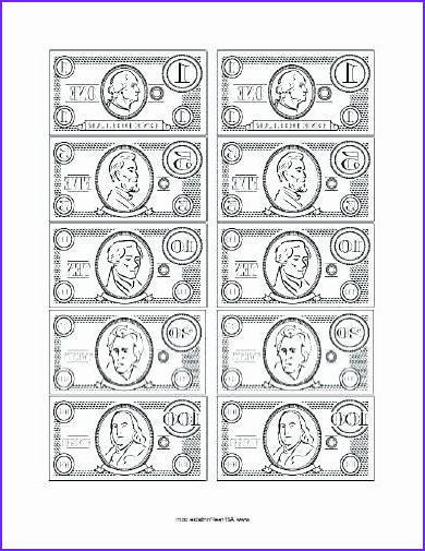 Coloring Dollar Bills Best Of Images 28 Dollar Bill Coloring Page In 2020