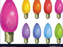 Coloring Light Bulbs Beautiful Gallery Holiday Colored Light Bulbs Royalty Free Vector Image