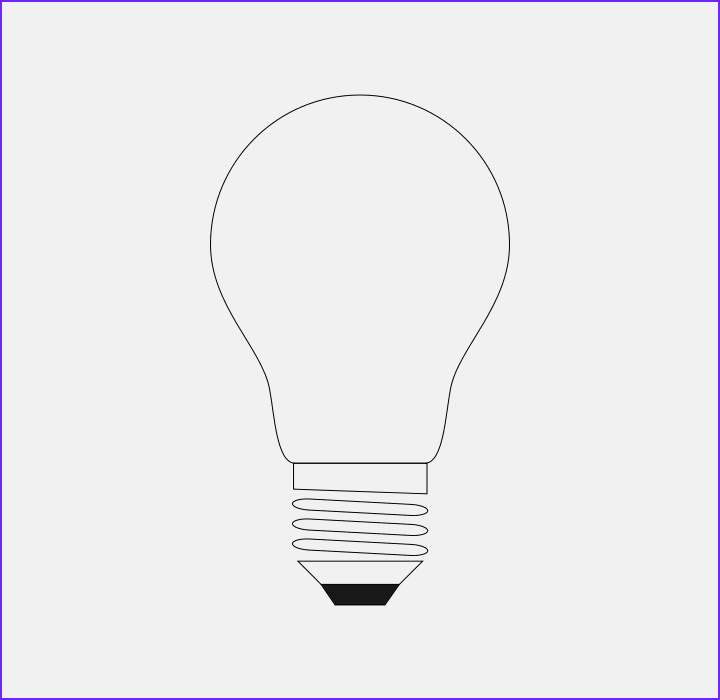 Coloring Light Bulbs Unique Stock How to Draw A Flat Single Color Light Bulb Icon In Inkscape
