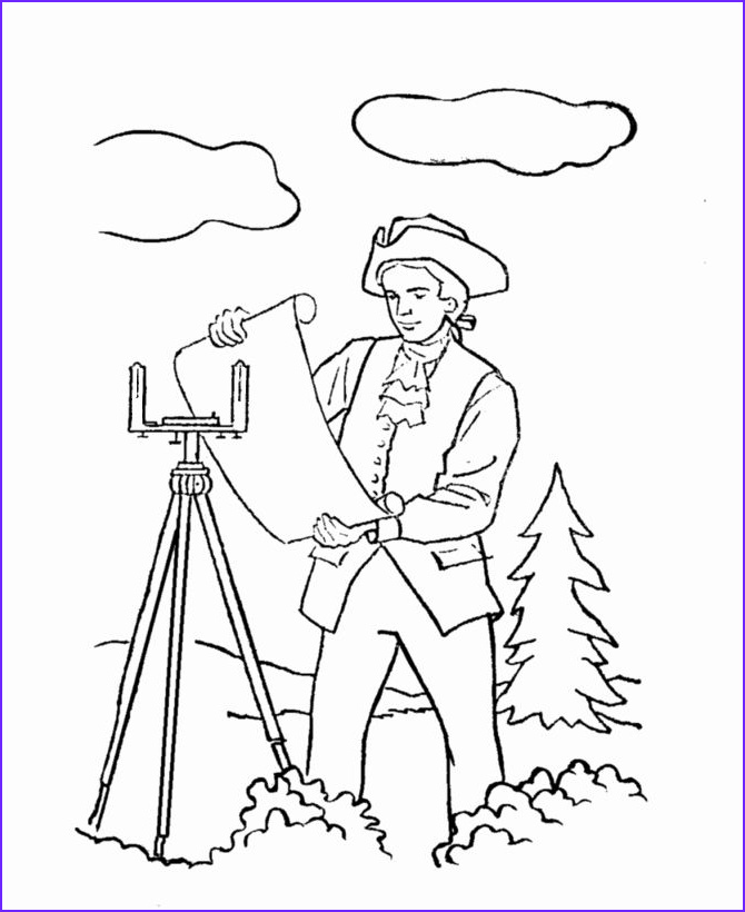 Coloring Picture Of George Washington Awesome Gallery George Washington Coloring Page Beautiful George