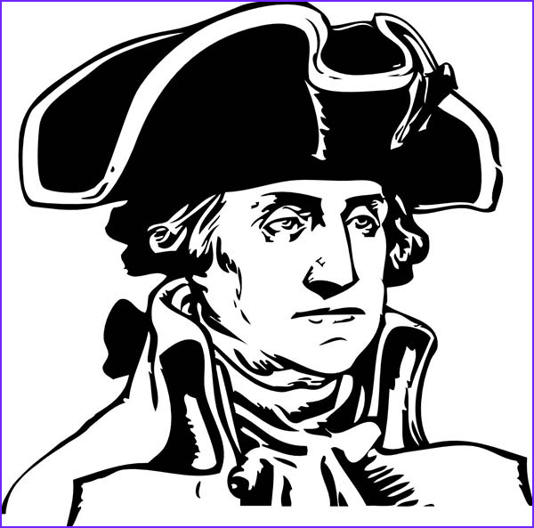 george washington during the american revolutionary war coloring page