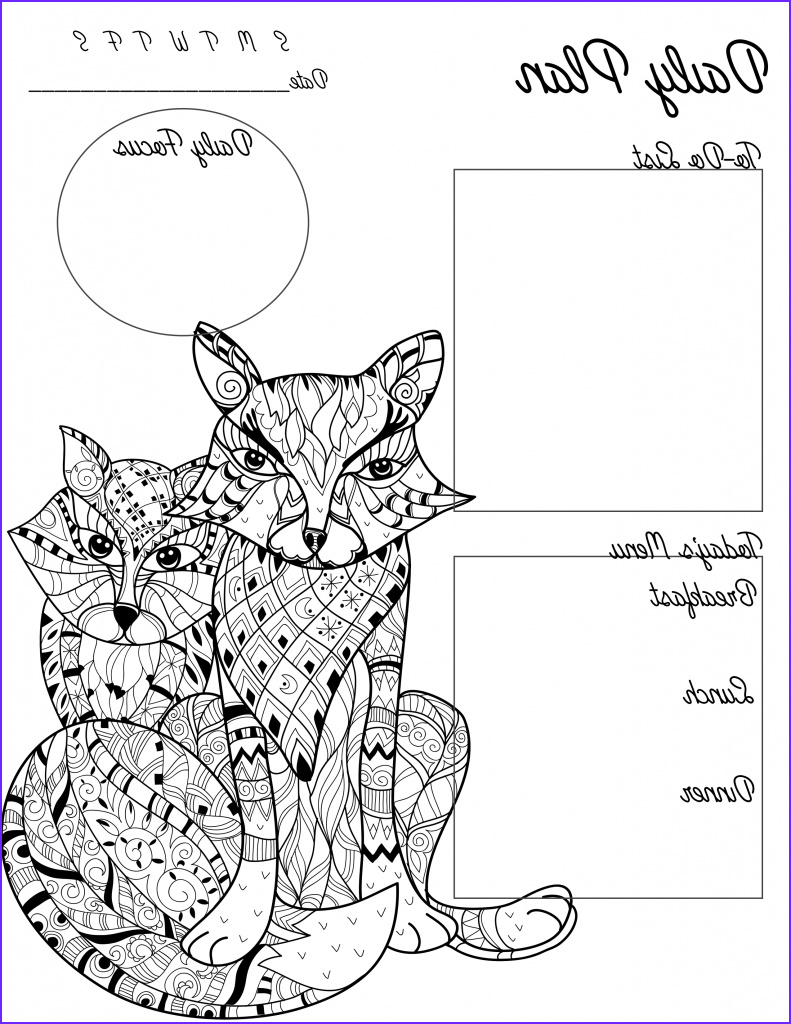Daily Coloring Page Luxury Photos Free Adult Coloring Page Printable Planner for Teachers