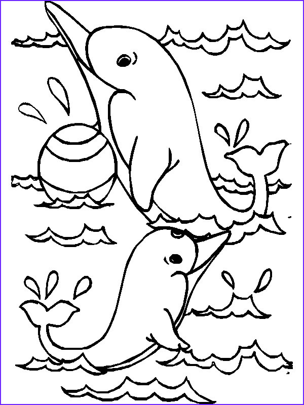 Dolphin Printable Coloring Page Inspirational Images Printable Dolphins Animal Coloring Pages