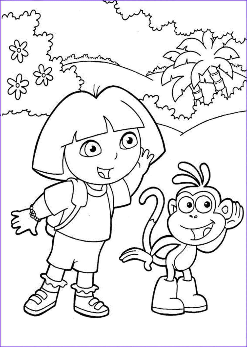 Dora the Explorer Coloring Best Of Photos Print & Download Dora Coloring Pages to Learn New Things