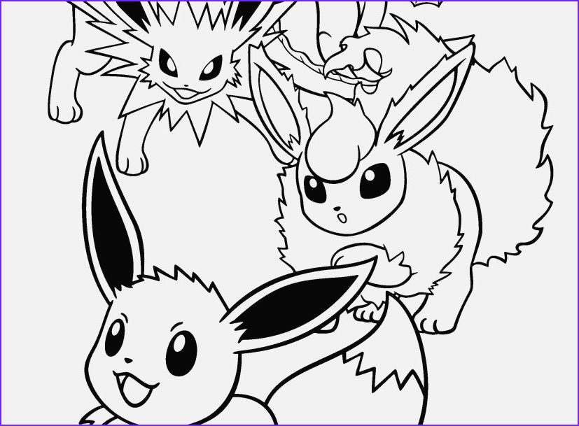 Eevee Evolutions Coloring Page Awesome Photos Pokemon Coloring Pages Eevee Evolutions at Getdrawings
