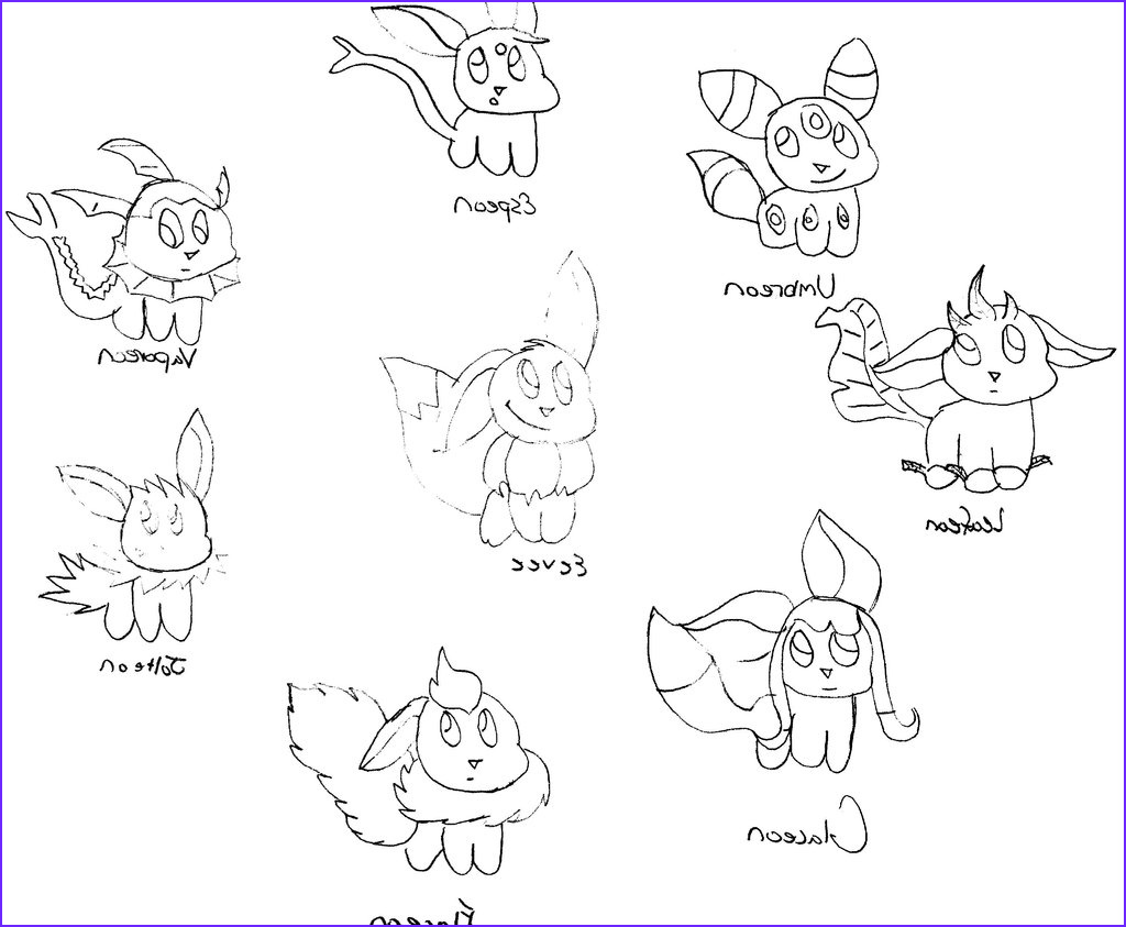 Eevee Evolutions Coloring Page Luxury Image Eevee Evolution Coloring Pages at Getcolorings