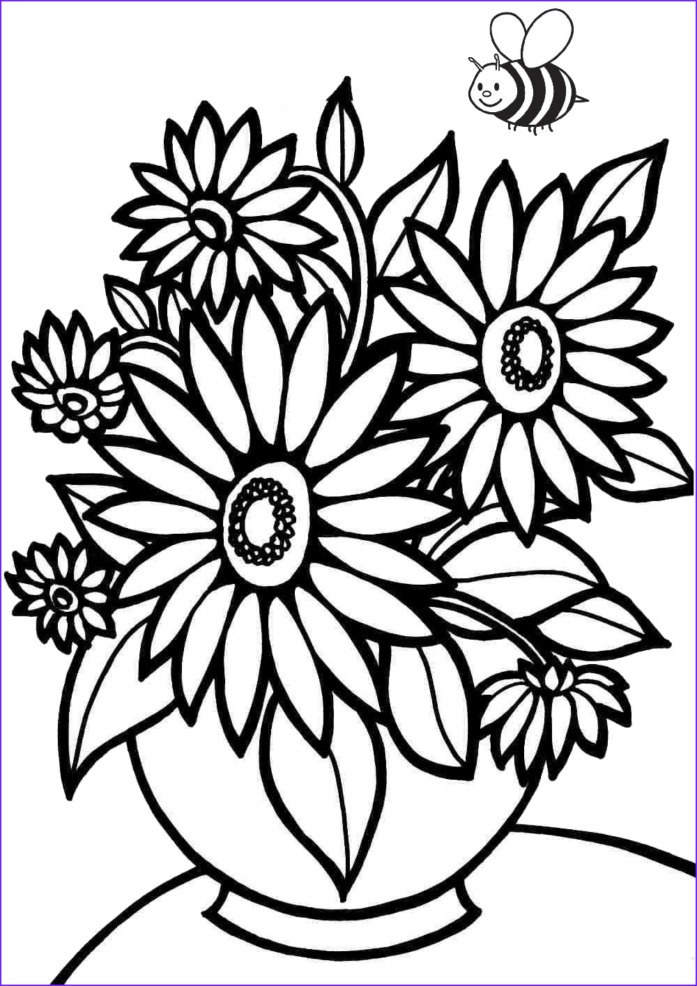Flowers Coloring Page For Kids Elegant Collection 36 Printable Flower Coloring Pages For Adults & Kids