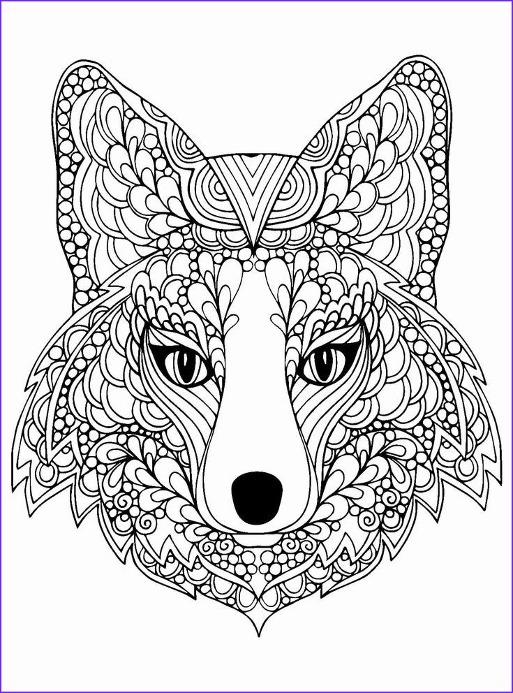 Fox Mandala Coloring Page Beautiful Photos Hard Animal Coloring Pages In 2020