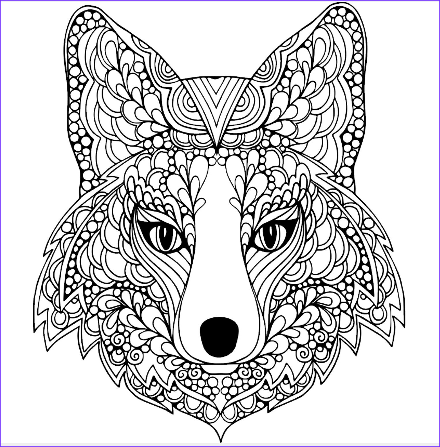 Fox Mandala Coloring Page Cool Photos Pin by Gnana S Ideas On Coloring