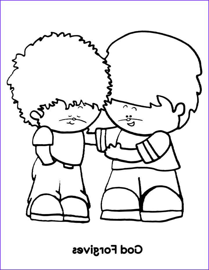 sunday school coloring pages forgiveness