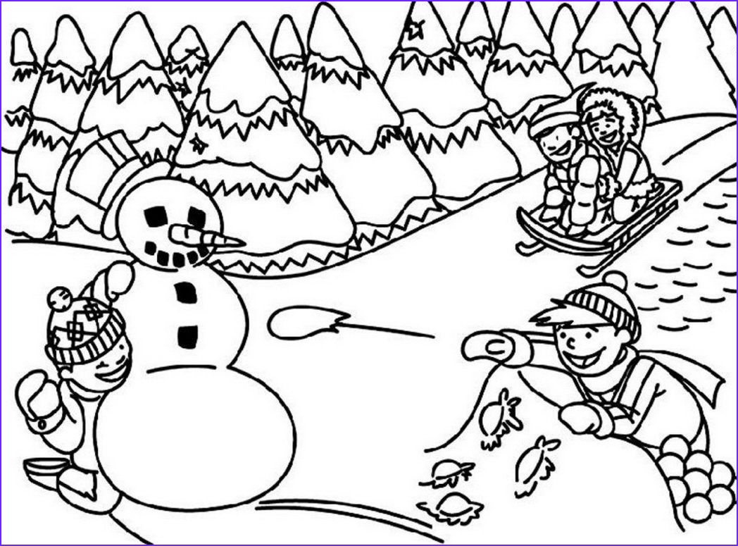 Free Winter Coloring Page Cool Stock Printable Winter Scene Coloring Pages Coloring Home