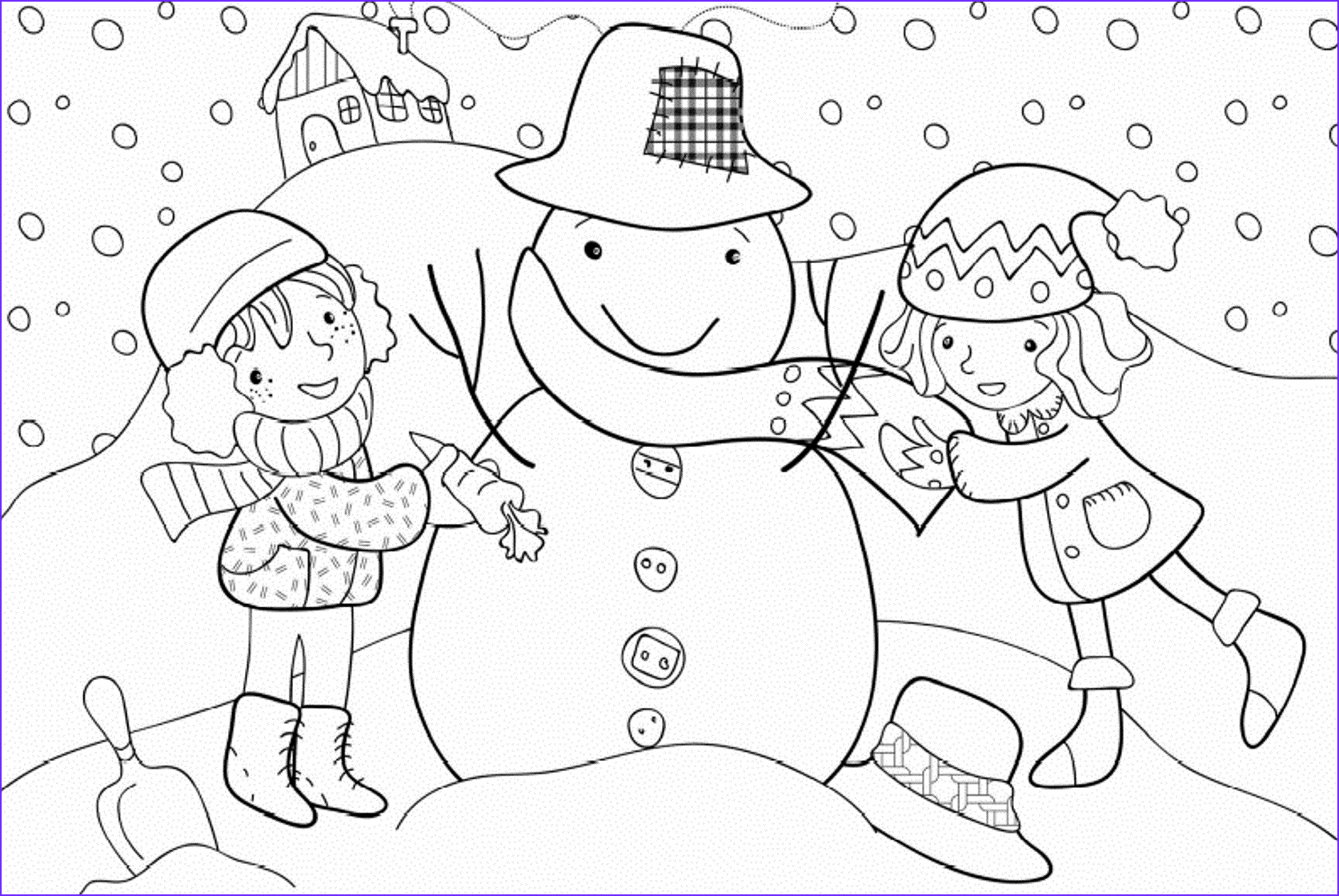 Free Winter Coloring Page New Image New Free Winter Coloring Pages For Kindergarten