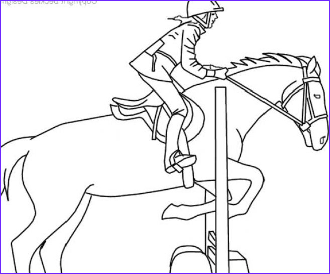 coloring pages of horses jumping sketch templates