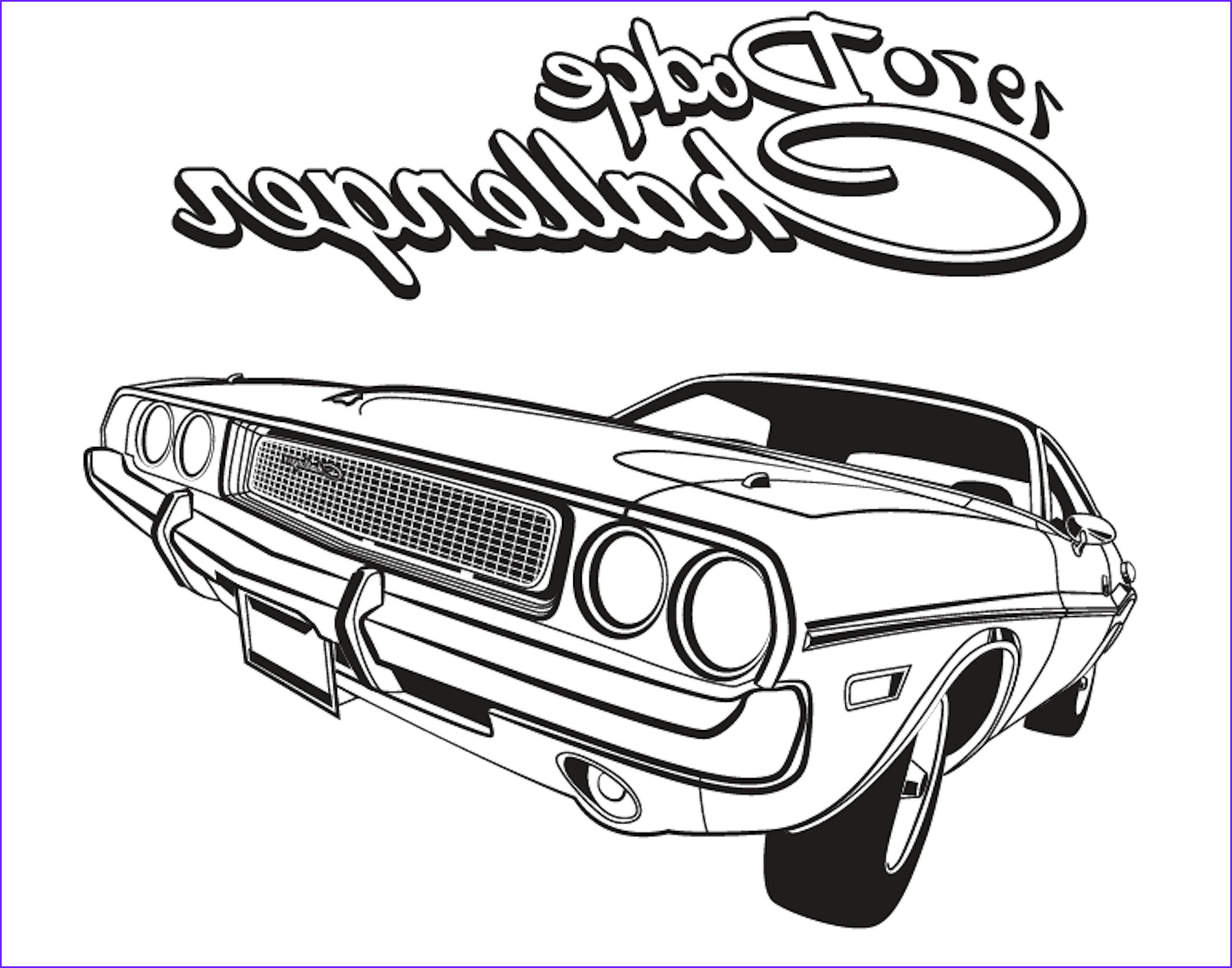 color a classic this free muscle car coloring book
